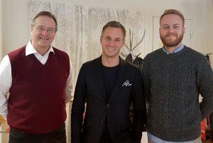 foto: Sonny Söderström vd, Erik Slottner, Oliver Berger projektledare