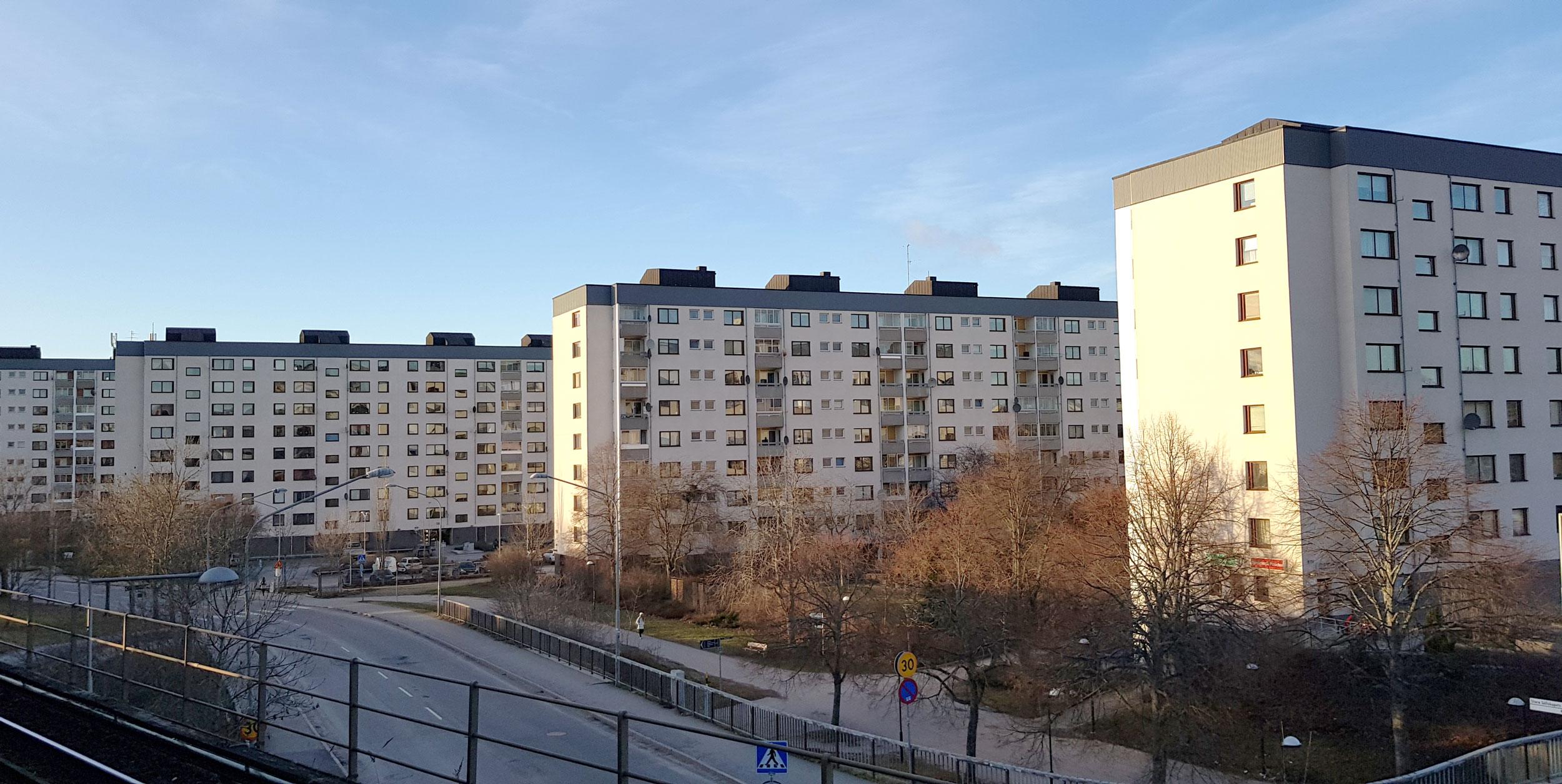 Svenska Bostäders fastigheter på Bredängs Allé
