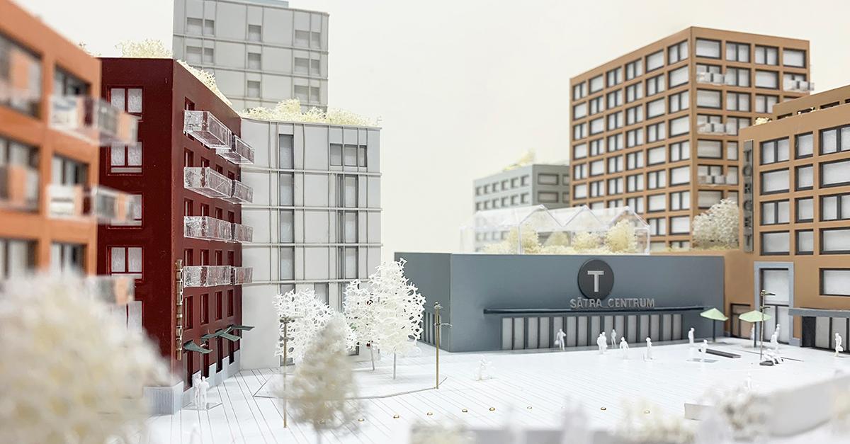 Samrådsförslag Sätra centrum (Urban Couture Arkitekter, 2020)