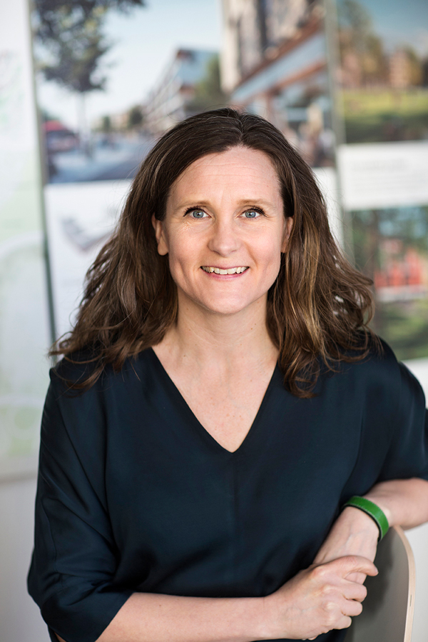 Karin Ahlzén, projektchef för Fokus Skärholmen
